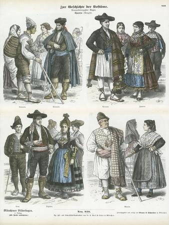 Spanish Regional Costumes, 19th Century