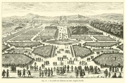 Le Jardin Des Tuileries En 1680; D'Apres Perelle