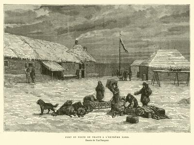 Fort and Trading Post in the Far North of Canada