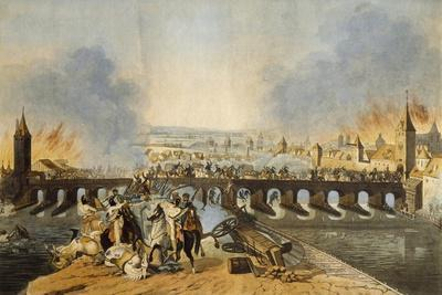Battle Between French and Austrians at Regensburg
