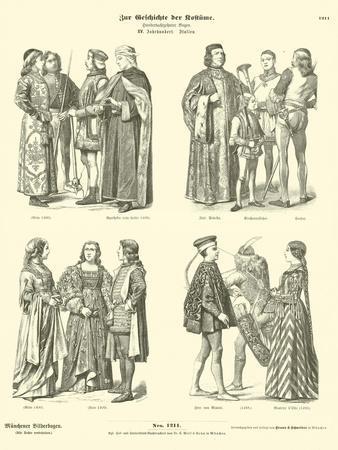 Italian Costumes, 15th Century