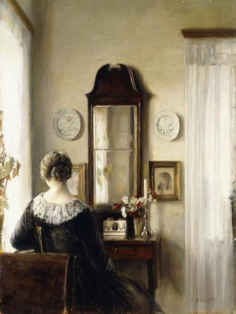 Interior with a Seated Woman by a Window