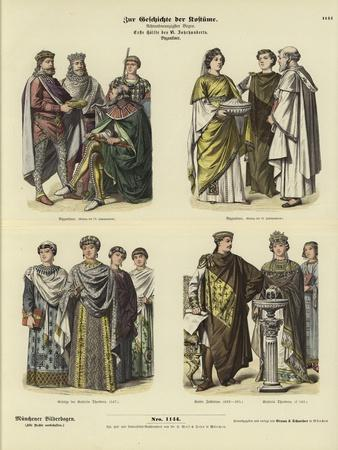 Byzantine Costumes, First Half of 6th Century
