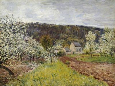 Rainy Spring Near Paris, by Alfred Sisley