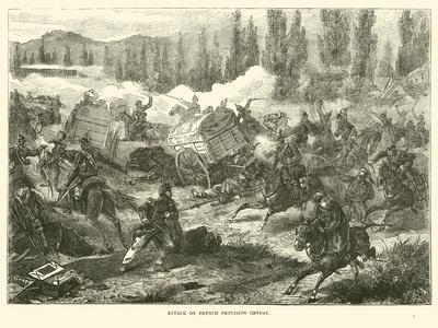 Attack on French Provision Convoy, September 1870