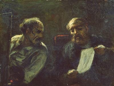 A Discussion in the Studio, 1852-55