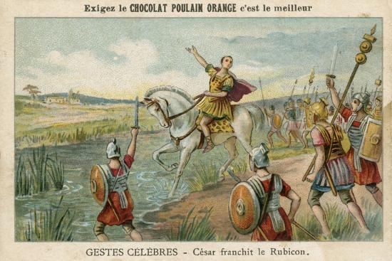 Julius Caesar Crossing the Rubicon, 49 BC' Giclee Print | AllPosters.com
