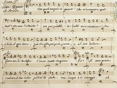 Autograph Music Sheet of Ifigenia in Aulide