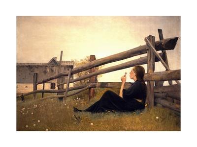 Girl in Meadow, 1899