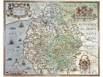 A Map of Westmorland and Cumberland, 1576