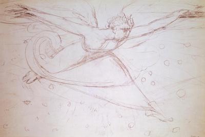 Angel Walking, Drawing