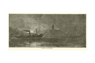 Destruction of the Albemarle, October 1864