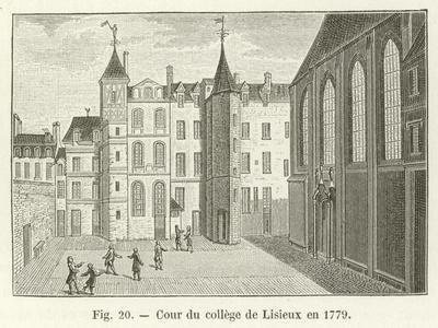 Cour Du College De Lisieux En 1779