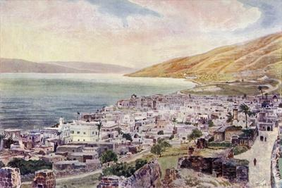 Tiberius and the Sea of Galilee, Israel, C.1910