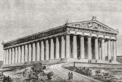 Exterior of the Parthenon in Athens, Greece
