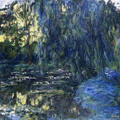 View of the Lilypond with Willow, C.1917-1919