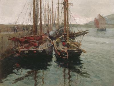 Penzance Fishing Boats in Newlyn Harbour, 1905