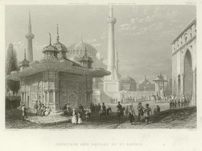 Fountain and Square of St Sophia, Constantinople