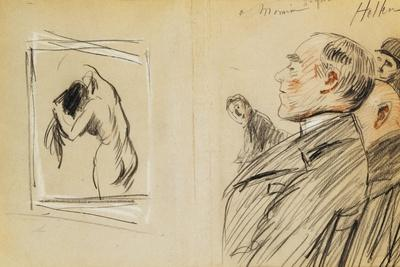 Monsieur Fiquet Admiring a Pastel by Degas
