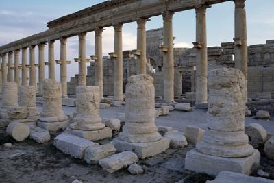 Ruins of Colonnade in Palmyra