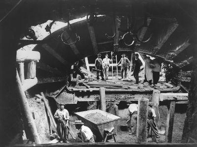 Construction of the Paris Metro, C.1900