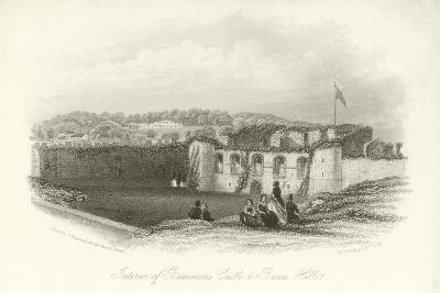 Interior of Beaumaris Castle and Baron Villa