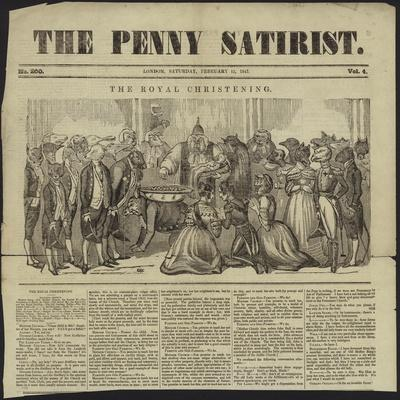 Cover of the Penny Satirist