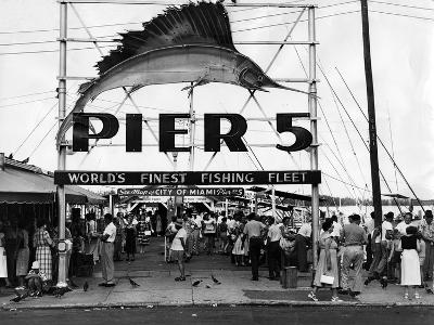 Pier 5 in Bayfront Park, Miami, 1930S