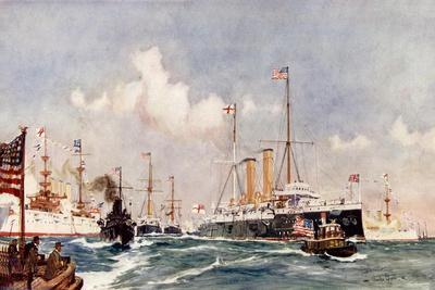 """The Flagship """"Crescent"""" at Bar Harbour, 1900"""