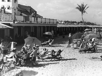 Sunbathers Enjoy a Day on Miami Beach, C.1935