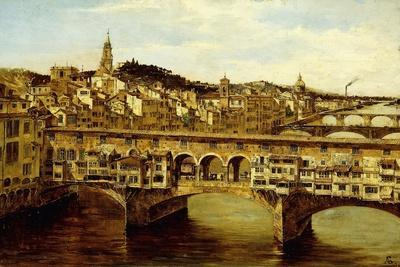 A View of the Ponte Vecchio, Florence