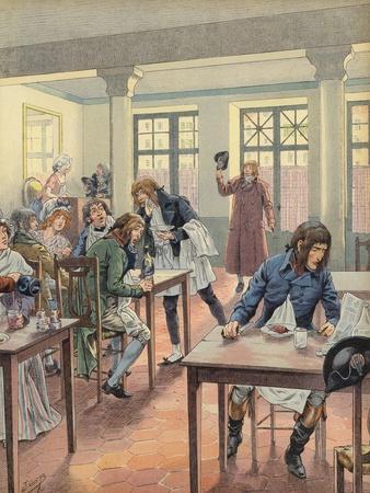 Napoleon Bonaparte Sitting in a Busy Restaurant