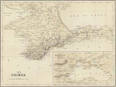 The Crimea; Map of the Black Sea