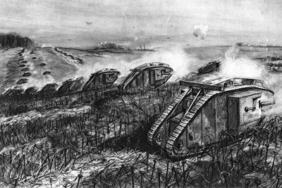 A Tank Offensive at Cambrai, France