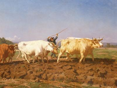 Ploughing in the Nivernais, 1850