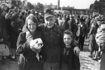 German Pow Returning from Yugoslavia, June 1946
