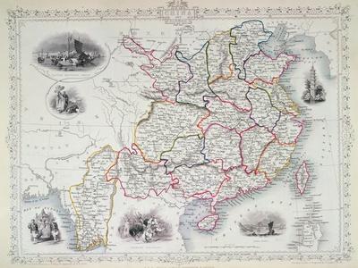 Map of China and Birmah, 1851