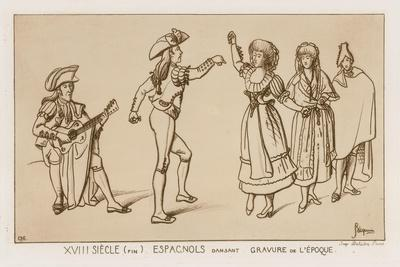 Spanish Dancers at the End of the 18th Century