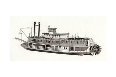 Paddle Steamer, 1818