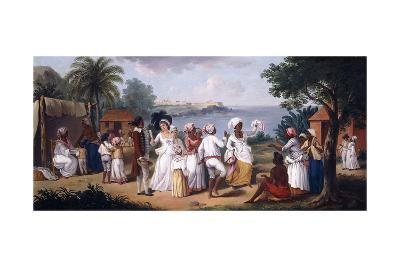 A Negro's Dance in the Island of Dominica, Fort Young Beyond