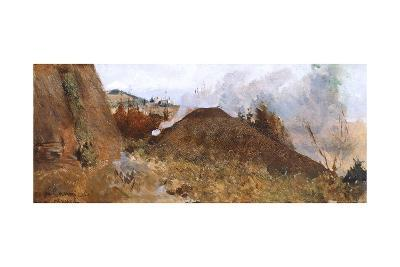 Charcoal Pit in the Landscape, 1880-1885
