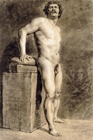 Male Academy Figure, Probably Polonais, Standing, 1821