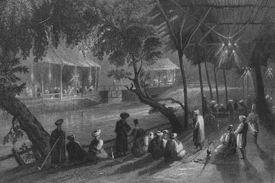 Cafes in Damascus, on a Branch of the Barrada, the Ancient Pharpar