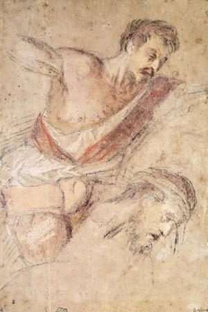 Studies for a Flagellation: a Man Scourging and the Head of Christ
