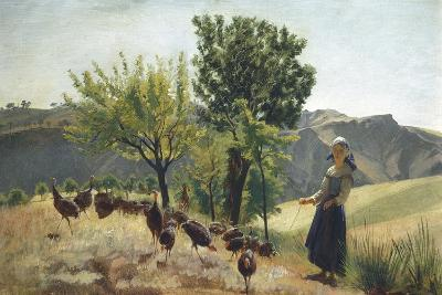 Landscape with Turkey Herd, 1875-1880