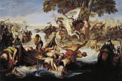 Giovanni Delle Bande Nere's Army Crossing Adda