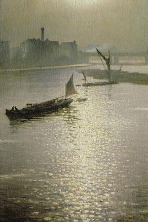 From Waterloo Bridge: Sun Bursting Through Fog, C.1924