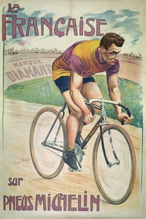 Poster Advertising Cycles 'La Francaise' on 'Michelin' Tyres