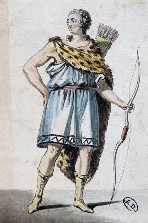 Sketch of Hippolytus' Costume for Phaedra