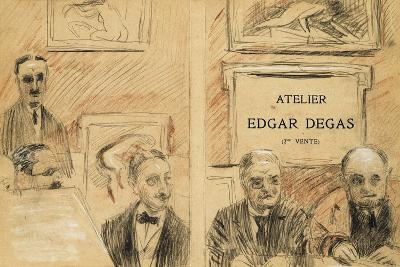 The Auctioneers at the Edgar Degas Studio Sale of December 1918